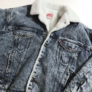 levis vtg vintage sherpa fleece lined denim jacket